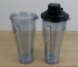 Lot of 2 Vitamix Ascent Blending Cup Accessory 20oz Tumbler Travel Flip Top - $36.62