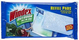 Windex Outdoor All-in-One Window Cleaner Pads Refill, 2 Count (Pack of 1) - $11.44