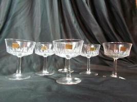 Vintage Set of 6 Luminarc Verrerie D'Arques France Champagne/Sherbert Ta... - $47.49
