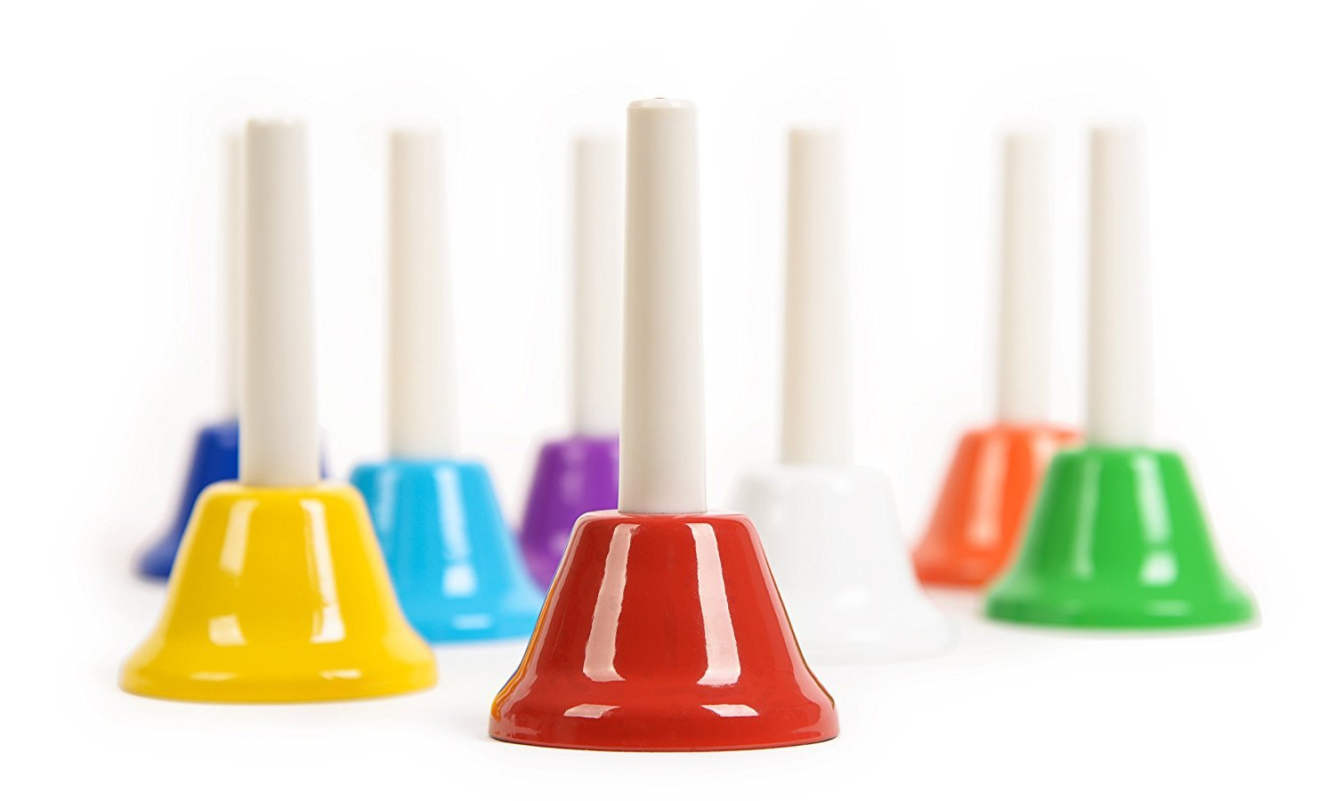 Hand Bell Set - 8 Note Diatonic Metal Bells With Song Sheet Musical Instrument f