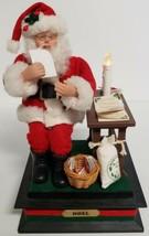 Vintage Holiday Scene Christmas Santa Musical Noel Light Up Read Letters  - $46.71