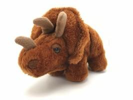 "VTG Dakin Dinosaur Plush Stuffed Animal Triceratops 10"" Brown 1980 Plushy - $14.85"
