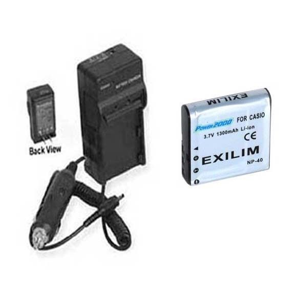 Primary image for NP-40 Battery + Charger for Casio EX-Z500 EXZ500 EX-Z700GY EX-Z1050BK EX-Z1050GD
