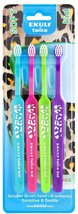 Ekulf Twice Kid Toothbrushes 4 pcs Made in Sweden - $5.20