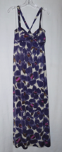 Karin Stevens Multi Color (Purple,White etc) Floral Maxi Dress Size: 10