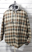 Craftsman Men's Plaid Hooded Shirt Jacket (Potting Soil) Size: XL