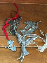 Gently Used Lot of Tennesmed Sweden Seagull Pewter Silver Colored ANGEL ... - $14.00