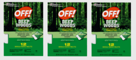 3pk~ OFF! Deep Woods Insect Repellent TOWELETTES 12ea Solid For Mosquito... - $29.89