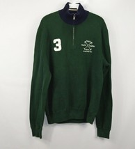 Polo Ralph Lauren Mens Large Spell Out 1/2 Zip Casual Pullover Sweater G... - $32.62