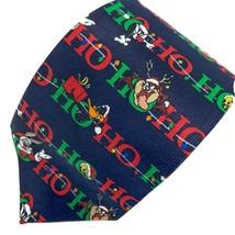 Looney Tunes Ho Ho Ho Bugs Bunny Taz Daffy Duck Christmas Tie Necktie - $9.89