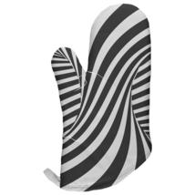Trippy Black And White Swirl All Over Oven Mitt - $16.95