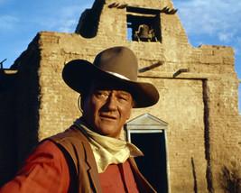 John Wayne in El Dorado in western town on set rare image 16x20 Canvas Giclee - $69.99