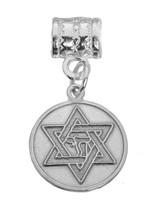 New Star of David Jewish Chai Genuine Sterling silver .925 Bead Charm Jewelry - $24.10