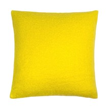 "Wool Mohair Effect Knitted Yellow 18"" - 45CM Cushion Cover - $9.61"