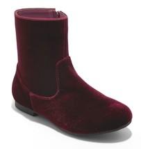 Brand New Little Girl's Art Class Paris Burgundy Red Velvet Fashion Boots NWT image 1