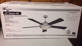 """Concord 52"""" Saturn Glossy Black/Stainless Steel Ceiling Fan 52SAX5E - $123.75"""
