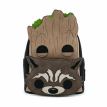 Pop by Loungefly Marvel GOTG Groot and Rocket Cosplay Mini Backpack Rack... - $80.95