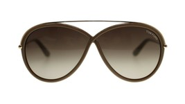 Tom Ford Tamara Womens Sunglasses FT0454 59K Beige Gold/Brown Gradient Lens Oval - $154.23