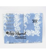 Lady Pepperell Wedding Lace Standard Pillow Cases Blue White New - $38.65