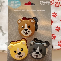 Dog Lover Kitchen Set, 7-pc, Pet Decor, Tea Towels, Clips, Red Grey image 6