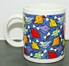 "Graduation Cap Diploma Ceramic Multicolored Coffee Mug Cup Grad Basic 4""... - $12.87"