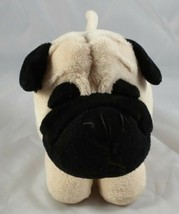 Brown Black Pug Plush Stuffed animal Russ Berrie  - $9.90