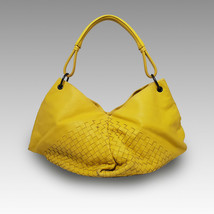 Bottega Veneta Fortune Cookie Hobo in Nappa Leather Yellow Bag Handbag - $365.75
