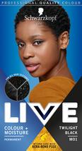 Schwarzkopf Live Hair Dye Intense Color   Moisture TWILIGHT BLACK M01 - $15.89
