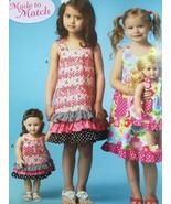 """Kwik Sew Sewing Patterns 4039 Childs Girls Dresses 18"""" Doll Dress Size X... - $16.23"""