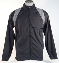 Adidas Golf ClimaProof Black & Gray Full Zip Packable Wind Jacket Mens NWT - $48.74
