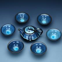 Chinese Porcelain Tea Set Classical Blue Color - $33.00