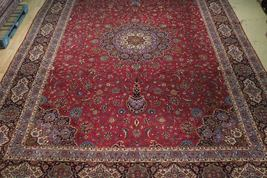 11x17 Red Traditional Handmade Fine Quality Sheik Safi Najaf Persian Rug image 12
