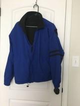 Dockers Men's Fleece Lined Reversible Jacket Sz M Blue/Gray  - $102.60
