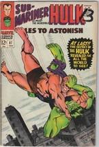 Tales To Astonish Comic Book #87 Marvel Comics 1967 FINE- - $15.44