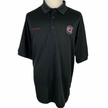 South Carolina Gamecocks Columbia PFG Polo Shirt XL Black Short Sleeve V... - $24.65