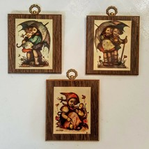 Hummel 36 Wooden Plaque LOT of 3 Vintage Paper on Wood Wall Decor - $19.78