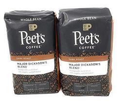 Peets Coffee, Major Dickason's Blend, Whole Bean 32oz (Pack of2) - $54.88