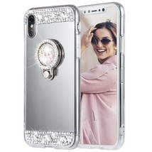 for iPhone X 5 SE 6 S 7 8 Plus Bling Mirror Makeup Crystal Protective Ca... - $7.99