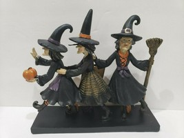 Halloween Witch Trio Witches Marching Figurine Sculpture Tabletop Decor ... - $34.99