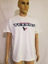 Reebok Houston Texans Spellout Tee Shirt White NFL Made in USA Medium  - $19.59