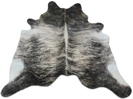 Grey Brindle Cowhide Rug Size: 7.4' X 7' Gray Brindle Cow Hide Rug D-509 - $276.21