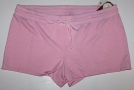 "Faded Glory NWT Women Plus Size Pink French Terry Knit Sleep Shorts - 3"" Ins - $18.45"
