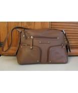 Stone Mountain Med Brown Leather PURSE Shoulder Bag Handbag w Tag Retail... - $35.63
