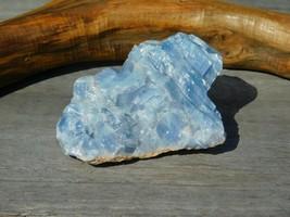 Blue Calcite Rough Chakra Stone 128g for Energy Healing Work Calming Vib... - $15.00