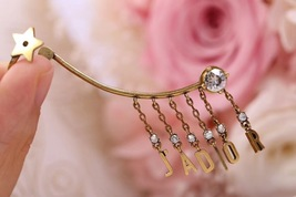NEW AUTH Christian Dior 2019 J'ADIOR EARRINGS GOLD STAR CRYSTAL DANGLE image 6