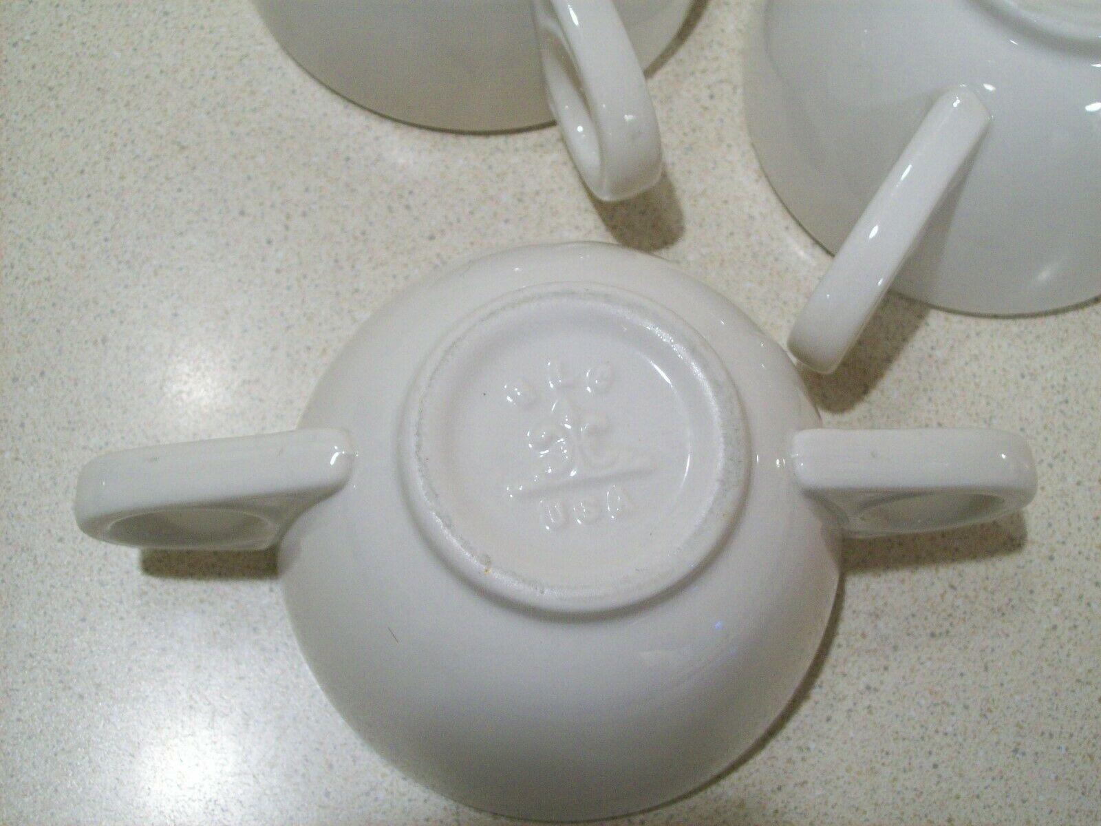 Vintage Homer Laughlin HLC Restaurant Ware Bouillon Cups Bowls USA Set of 3