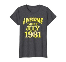 Uncle Shirts -   Birthday Shirt Awesome Since June 1981 Gifts 37 Years O... - $19.95+