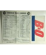 B&O RR Washington-Baltimore Condensed Schedules October 29, 1961 - $9.89