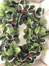 10' Holly Berry Christmas Garland Dining Table Runner Silk  Leaf Wedding... - $24.75