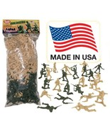 TimMee Plastic Army Men - Green vs Tan 100pc Toy Soldier Figures - Made ... - $30.90